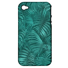Tropical Hawaiian Pattern Apple iPhone 4/4S Hardshell Case (PC+Silicone)
