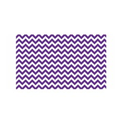 Royal Purple & White Zigzag Pattern Satin Wrap