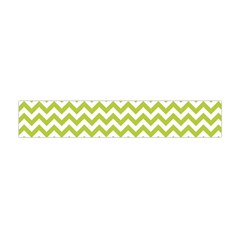 Spring Green & White Zigzag Pattern Flano Scarf (mini)