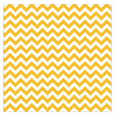 Sunny Yellow & White Zigzag Pattern Large Satin Scarf (square)