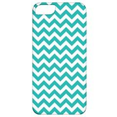Turquoise & White Zigzag Pattern Apple Iphone 5 Classic Hardshell Case