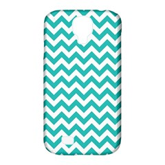 Turquoise & White Zigzag Pattern Samsung Galaxy S4 Classic Hardshell Case (pc+silicone)