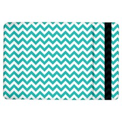 Turquoise & White Zigzag Pattern Apple Ipad Air Flip Case