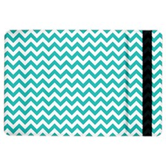 Turquoise & White Zigzag Pattern Apple Ipad Air 2 Flip Case