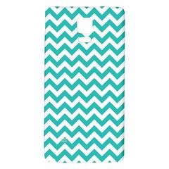 Turquoise & White Zigzag Pattern Samsung Note 4 Hardshell Back Case