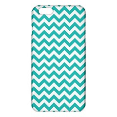 Turquoise & White ZigZag pattern iPhone 6 Plus/6S Plus TPU Case