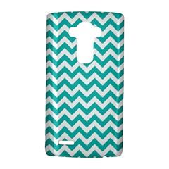 Turquoise & White ZigZag pattern LG G4 Hardshell Case