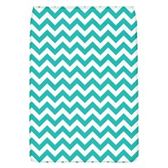 Turquoise & White ZigZag pattern Removable Flap Cover (L)