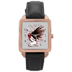 Dominance Rose Gold Leather Watch