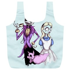 Nightmare In Wonderland  Full Print Recycle Bags (L)