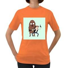 Space Adventure! Mans Best Friend Women s Dark T-Shirt