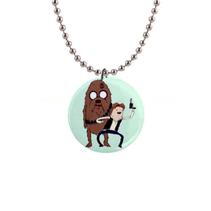 Space Adventure! Mans Best Friend Button Necklaces