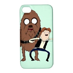 Space Adventure! Mans Best Friend Apple iPhone 4/4S Hardshell Case with Stand