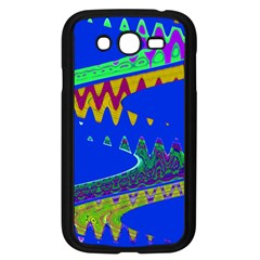 Colorful Wave Blue Abstract Samsung Galaxy Grand DUOS I9082 Case (Black)
