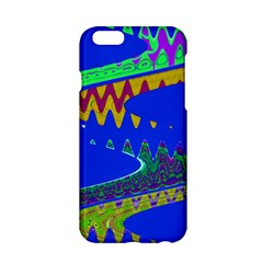 Colorful Wave Blue Abstract Apple iPhone 6/6S Hardshell Case