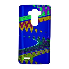 Colorful Wave Blue Abstract Lg G4 Hardshell Case
