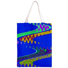 Colorful Wave Blue Abstract Classic Light Tote Bag