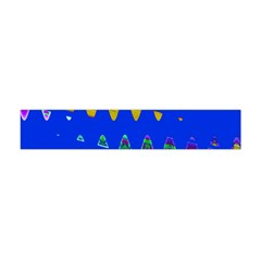 Colorful Wave Blue Abstract Flano Scarf (Mini)