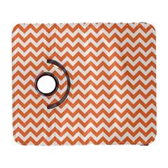 Tangerine Orange & White ZigZag pattern Samsung Galaxy S  III Flip 360 Case