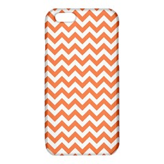 Tangerine Orange & White ZigZag pattern iPhone 6/6S TPU Case