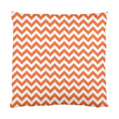 Tangerine Orange & White ZigZag pattern Standard Cushion Case (One Side)