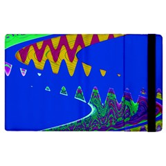 Colorful Wave Blue Abstract Apple iPad 3/4 Flip Case