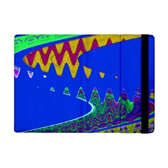 Colorful Wave Blue Abstract Apple iPad Mini Flip Case
