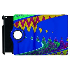Colorful Wave Blue Abstract Apple iPad 3/4 Flip 360 Case