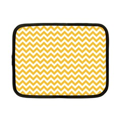 Sunny Yellow & White Zigzag Pattern Netbook Case (Small)