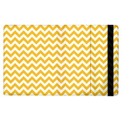 Sunny Yellow & White Zigzag Pattern Apple iPad 2 Flip Case