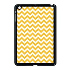 Sunny Yellow & White Zigzag Pattern Apple Ipad Mini Case (black)