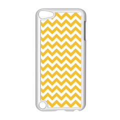 Sunny Yellow & White Zigzag Pattern Apple Ipod Touch 5 Case (white)