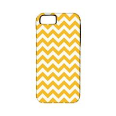 Sunny Yellow & White Zigzag Pattern Apple Iphone 5 Classic Hardshell Case (pc+silicone)
