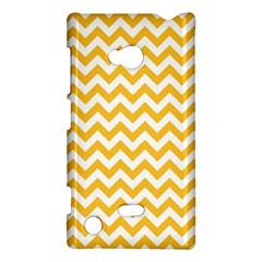 Sunny Yellow & White Zigzag Pattern Nokia Lumia 720 Hardshell Case