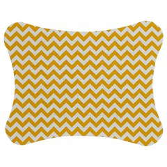 Sunny Yellow & White Zigzag Pattern Jigsaw Puzzle Photo Stand (bow)