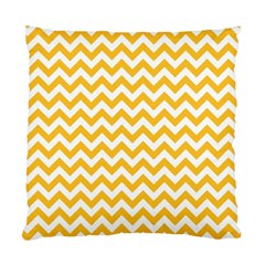 Sunny Yellow & White Zigzag Pattern Standard Cushion Case (one Side)