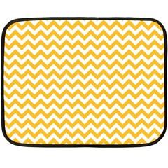 Sunny Yellow & White Zigzag Pattern Fleece Blanket (mini)