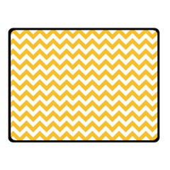 Sunny Yellow & White Zigzag Pattern Fleece Blanket (Small)