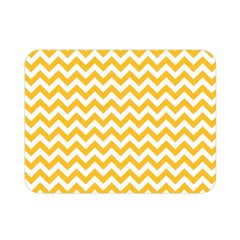 Sunny Yellow & White Zigzag Pattern Double Sided Flano Blanket (mini)