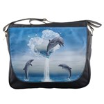 The Heart Of The Dolphins Messenger Bag Front