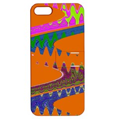 Colorful Wave Orange Abstract Apple iPhone 5 Hardshell Case with Stand