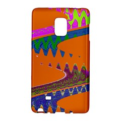 Colorful Wave Orange Abstract Galaxy Note Edge