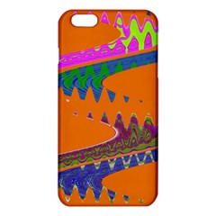 Colorful Wave Orange Abstract iPhone 6 Plus/6S Plus TPU Case