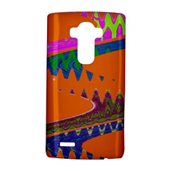 Colorful Wave Orange Abstract LG G4 Hardshell Case