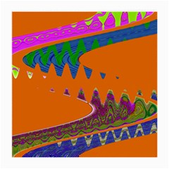 Colorful Wave Orange Abstract Medium Glasses Cloth (2-Side)