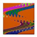 Colorful Wave Orange Abstract Face Towel Front