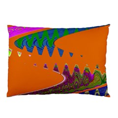 Colorful Wave Orange Abstract Pillow Case (two Sides)