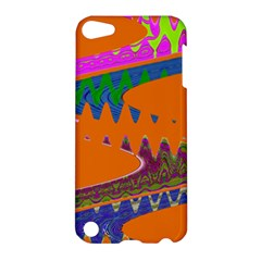 Colorful Wave Orange Abstract Apple iPod Touch 5 Hardshell Case