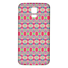 Pretty Pink Shapes Pattern Samsung Galaxy S5 Back Case (White)