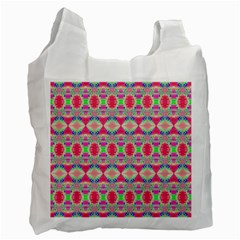 Pretty Pink Shapes Pattern Recycle Bag (Two Side)